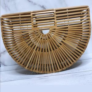 LARGE trendy bamboo handbag ✨